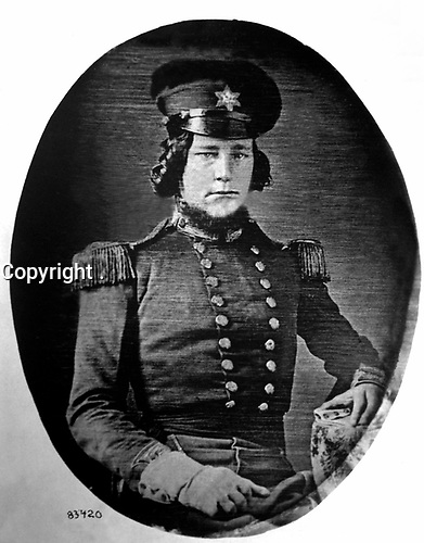 Bezaleel W. Armstrong Graduated U.S. Military Academy and Bvt. 2d Lt., 1st Dragoons, 1845; 2d Lt., 2d Dragoons, 1846; served in Mexican War at Vera Cruz and Mexico City, 1847-48; died 1849, aged 26.  Copy of daguerreotype, ca. 1846. (Army)  <br /> Exact Date Shot Unknown