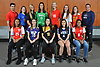 Members of Newsday's 2018 All-Long Island girls soccer team pose for a group portrat at company headquarters in Melville on Thursday, Dec. 6, 2018. FRONT ROW, FROM LEFT: Bryana Pizarro of Valley Stream South, Dominique Bono of Islip. Brianna Passaro of St. Anthony's, Emily Leverich of Smithtown West and Lindsey Smith of Valley Stream South. BACK ROW, FROM LEFT: Coach Detetri Adrahtas of Valley Stream South, Kayla Leary of East Meadow, Jess Garziano of Half Hollow Hills East, Sydney Moore of Farmingdale, Stephanie Sparkowski of East Meadow, Jordyn Levy of Half Hollow Hills West, Cubby Biscardi of Sacred Heart Academy and Coach Rob Schretzmayer of Smithtown West.