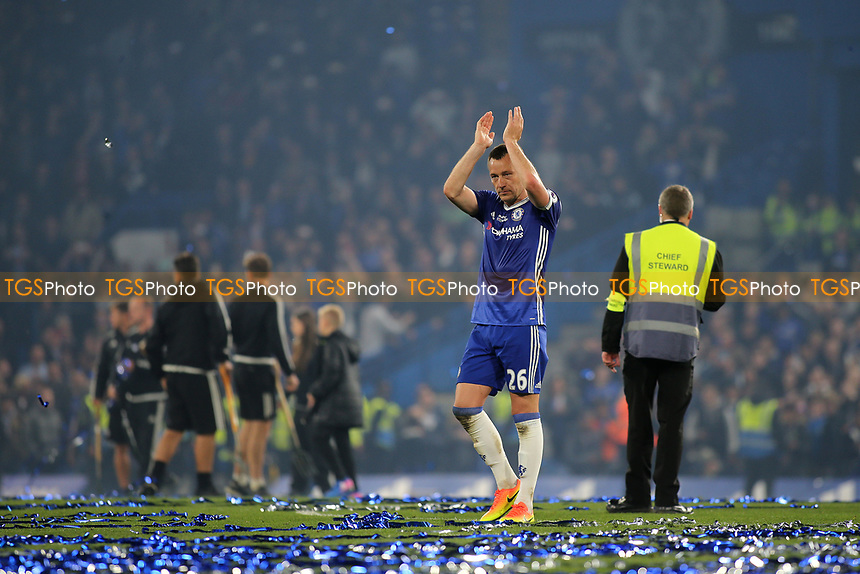 Chelsea's John Terry leaves the pitch after the celebrations at the end of the game during Chelsea vs Watford, Premier League Football at Stamford Bridge on 15th May 2017
