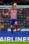 Diego Roberto Godin Leal of Atletico de Madrid heads the ball during the La Liga 2018-19 match between Atletico de Madrid and RCD Espanyol at Wanda Metropolitano on December 22 2018 in Madrid, Spain. Photo by Diego Souto / Power Sport Images