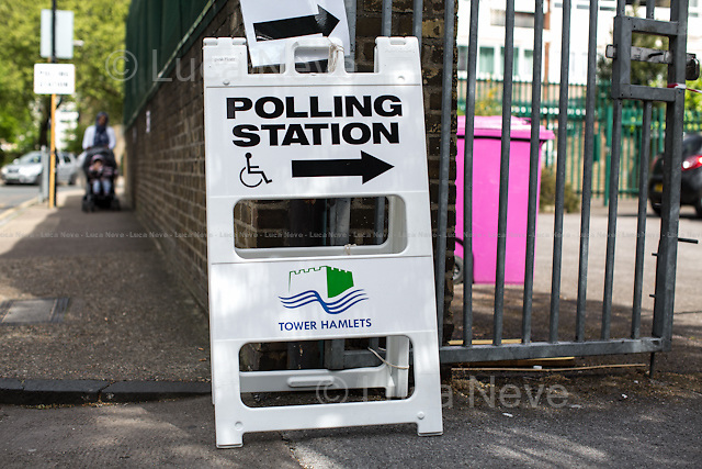 &quot;Voting in Tower Hamlets&quot;.<br />