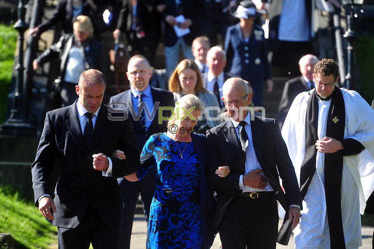 30 September 2015.......   Vivienne Close, widow of Brian Close leaves a memorial service for the Yorkshire Cricket legend at St Chads Church in Far Headingley. Picture Tony Johnson