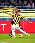 Nederland, Arnhem, 2 december  2012.Eredivisie.Seizoen 2012-2013.Vitesse-Roda JC.Marco van Ginkel van Vitesse scoort de 1-0.