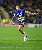 2nd February 2019, Halliwell Jones Stadium, Warrington, England; Betfred Super League rugby, Warrington Wolves versus Leeds Rhinos; Blake Austin kicks forward