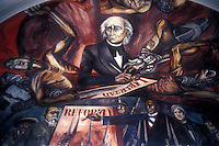 Mural by Jose Clemente Orozco showing Miguel Hidalgo and fathers of Mexican Independence,Government Palace,Gudalajara, Mexico