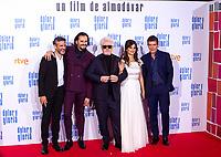 (L-R) Leonardo Sbaraglia, Asier Etxeandia, Pedro Almodovar, Penelope Cruz and Antonio Banderas attend the movie premiere of 'Dolor y gloria' in Capitol Cinema, Madrid 13th March 2019. (ALTERPHOTOS/Alconada)<br /> Foto Alterphotos / Insidefoto<br /> ITALY ONLY