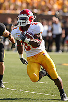 Iowa State Cyclones running back Alexander Robinson runs for some yardage during the second quarter at Memorial Stadium in Columbia, Missouri on October 27, 2007. The Tigers won 42-28.