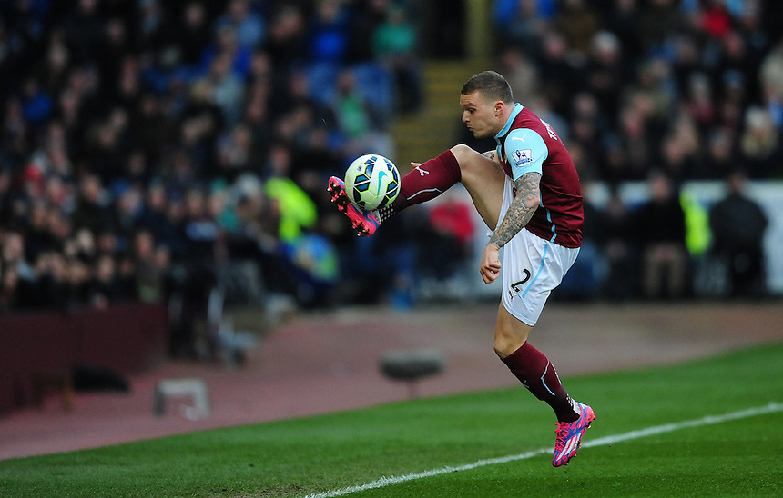Burnley's Kieran Trippier<br /> <br /> Photographer Chris Vaughan/CameraSport<br /> <br /> Football - Barclays Premiership - Burnley v Manchester City - Saturday 14th March 2015 - Turf Moor - Burnley<br /> <br /> &copy; CameraSport - 43 Linden Ave. Countesthorpe. Leicester. England. LE8 5PG - Tel: +44 (0) 116 277 4147 - admin@camerasport.com - www.camerasport.com