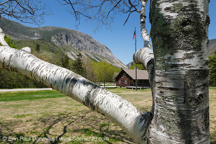 Franconia Notch State Park - Cannon Mountain in the White Mountains, New Hampshire USA during the spring months