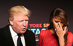 Donald Trump and Melania Trump attend the Opening Night performance of 'New York Spring Spectacular' at Radio City Music Hall on March 26, 2015 in New York City.