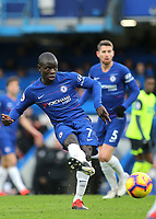 N'Golo Kante of Chelsea during Chelsea vs Huddersfield Town, Premier League Football at Stamford Bridge on 2nd February 2019