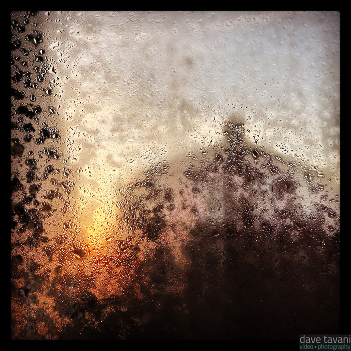 The morning sun starts to melt the frost on our back window on December 14, 2012.