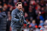 Southampton manager Ralph Hasenhuttl reacts to his side nearly scoring during the Premier League match at Anfield, Liverpool. Picture date: 1st February 2020. Picture credit should read: James Wilson/Sportimage