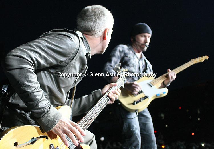 U2 at Don Valley Stadium, Sheffield, United Kingdom, 28th August 2009. Photo by Glenn Ashley.