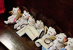 WATERBURY, CT-19 December 2012-121912BF03-- Some of the 600 teddy bears and wristbands donated by a private donar affiliated with the group Project You Are Love from Springtown, PA sit on a pew inside the Basilica of the Immaculate Conception Wednesday night in Waterbury during a mass held to honor teachers in the aftermath of the Sandy Hook Elementary School shootings in Newtown last Friday. The teddy bears were being delivered to Newtown by Waterbury resident Gisele Booker. Bob Falcetti Republican-American
