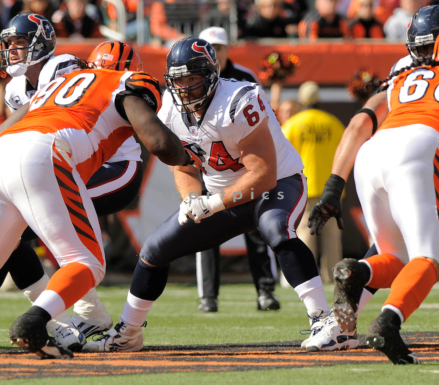 KASEY STUDDARD, of the Houston Texans  in action during the Texans game against Cincinnati Bengals in Cincinnati, OH on October 18, 2009.  The Texans  beat the Rams 28-17..