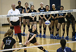 Marymount's Erin Allison gets a dig in a college volleyball game, in Arlington, Vir., on Saturday, Nov. 1, 2014.<br /> Photo by Cathleen Allison