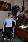"In their Lawyer Office starring Robert Bogue ""Mario Cash"" and Mandy Bruno ""Danielle Kelly"" take a break from filming to dance - ""Rock Story"" (rock n' roll mystery ensues and unleases band rise to national fame) - screen play by Guiding Light's Robert Bogue and Mandy Bruno. Rock Story which was shot almost all in Orange County has just finished filming in late January. It will be the feature film in the 2014 Hoboken International Film Festival on May 30 (with the festival continuing through June 5) at the Paramount Theatre in Middletown, New York. (Photo by Sue Coflin/Max Photos)"