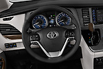 Car pictures of steering wheel view of a 2018 Toyota Sienna XLE 5 Door Mini Van