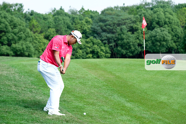 Hideki Matsuyama (JPN) on the 10th during round 2 of the 2017 WGC HSBC Champions, Sheshan International Golf Club, Shanghai, China PR. 27/10/2017<br /> Picture: Golffile | Fran Caffrey<br /> <br /> <br /> All photo usage must carry mandatory copyright credit (&copy; Golffile | Fran Caffrey)