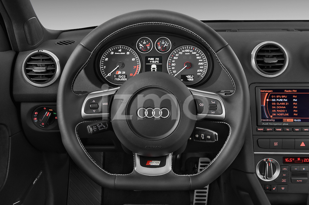 Steering wheel view of a 2009 - 2013 Audi S3 Sportback 5-Door Hatchback 4WD.