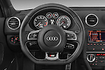 Steering wheel view of a 2009 - 2013 Audi S3 Sportback 5-Door Hatchback 4WD.