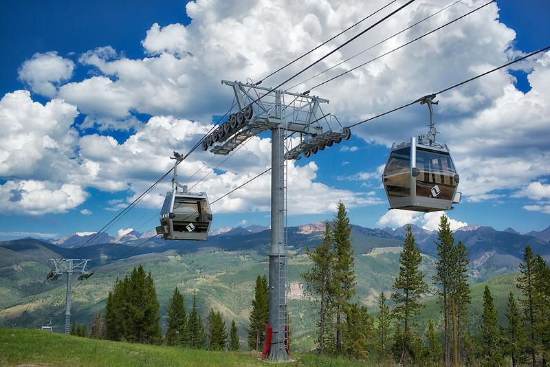 Gondola tram from Vail, Colorado