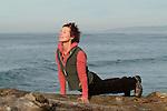 Woman doing yoga plank pose