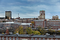 City skyline, Manchester, New Hampshire, USA