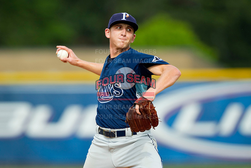 Princeton Rays starting pitcher Nolan Gannon (29) in action against the Burlington Royals at Burlington Athletic Park on July 5, 2013 in Burlington, North Carolina.  The Royals defeated the Rays 5-1 in game one of a doubleheader.  (Brian Westerholt/Four Seam Images)
