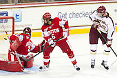 Matt O'Connor (BU - 29), Alexx Privitera (BU - 6), Kevin Hayes (BC - 12) - The Boston College Eagles defeated the visiting Boston University Terriers 5-2 on Saturday, December 1, 2012, at Kelley Rink in Conte Forum in Chestnut Hill, Massachusetts.