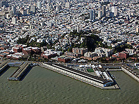aerial photograph Pier 29 Coit Tower Telegraph Hill San Francisco, California