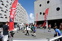 GRONINGEN - Voetbal, Open dag FC Groningen ,  seizoen 2017-2018, 06-08-2017,  spelletjes op de omloop