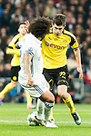Real Madrid's Marcelo Vieira, Borussia Dortmund Christian Pullsic during Champions League match between Real Madrid and Borussia Dortmund  at Santiago Bernabeu Stadium in Madrid , Spain. December 07, 2016. (ALTERPHOTOS/Rodrigo Jimenez)