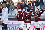 Alejandro Berenguer of Torino FC celebrates after scoring to give the side a 1-0 lead during the Serie A match at Stadio Grande Torino, Turin. Picture date: 12th January 2020. Picture credit should read: Jonathan Moscrop/Sportimage