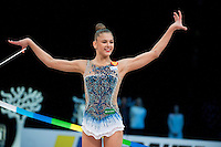 February 27, 2016 - Espoo, Finland - ALEKSANDRA SOLDATOVA of Russia wins gold at Espoo World Cup 2016.