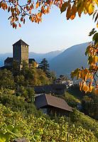 Italien, Suedtirol, bei Meran, Dorf Tirol: Landesmuseum Schloss Tirol   Italy, South Tyrol, Alto Adige, near Merano, Tirolo: Tyrol castle - provincial museum of history and culture