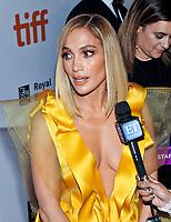 "07 September 2019 - Toronto, Ontario Canada - Jennifer Lopez. 2019 Toronto International Film Festival - ""Hustlers"" Premiere held at Roy Thomson Hall. <br /> CAP/ADM/BPC<br /> ©BPC/ADM/Capital Pictures"