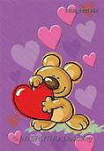 Andrea, VALENTINE, paintings, bear, heart(ITABTYU1064,#V#) ,everyday
