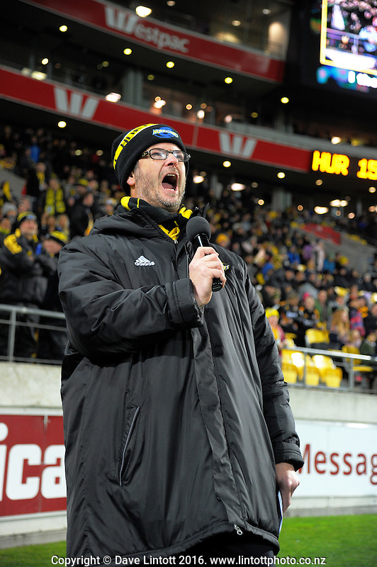 Mc Greg Ellis during the Super Rugby semifinal match between the Hurricanes and Chiefs at Westpac Stadium, Wellington, New Zealand on Saturday, 30 July 2016. Photo: Dave Lintott / lintottphoto.co.nz