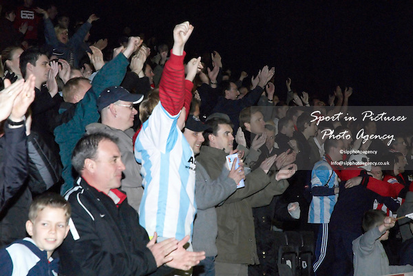 The final whistle blows and the Urchins fans go wild. AFC Hornchurch Vs Great Wakering Rovers (27/03/2007) - Essex Senior Cup Final