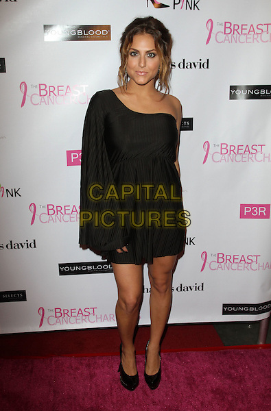 Cassie Scerbo.The Breast Cancer Charities of America 2 Annual Fashion Show Fundraiser Held at Superclub, Hollywood, California, USA..October 19th, 2011.full length black dress one sleeve shoulder .CAP/ADM/KB.©Kevan Brooks/AdMedia/Capital Pictures.