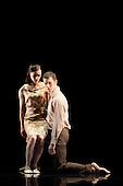 LONDON, ENGLAND - Rambert Dance Company performing Awakenings at Sadler's Wells, Jonathan Goddard and Malgorzata Dzierzon dancing.