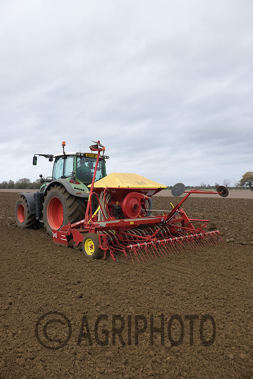 Drilling Winter Barley in Lincolnshire<br />