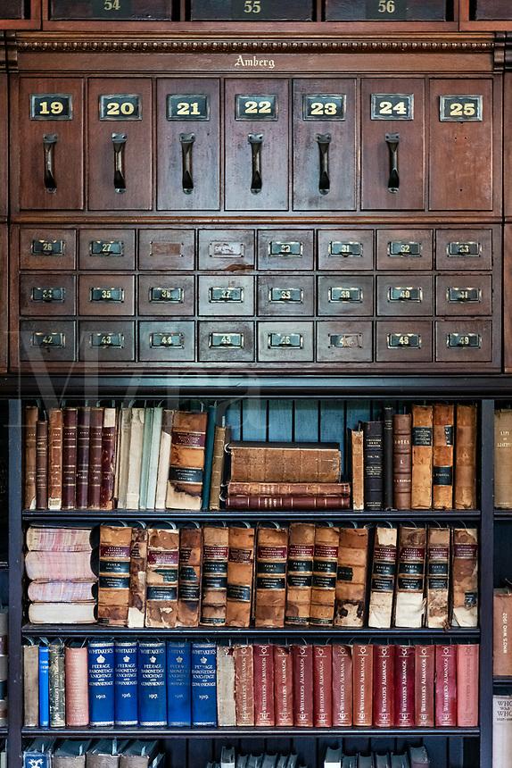 Hilldene mansion library.