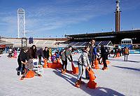 Nederland Amsterdam 2018. De Coolste Baan van Nederland. Tijdelijke ijsbaan in het Olympisch Stadion in Amsterdam. Foto Berlinda van Dam / Hollandse Hoogte
