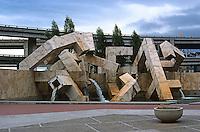 San Francisco:  Ferry Park and Fountain by Armand Vallaincourt.  (Photo '83)