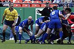 30 April 2005: Kansas City's Vince Pastorino retrieves the ball from the scrum and starts the offense. The Kansas City Blues defeated the Philadelphia Whitemarsh RFC 41-14 at the Arrowhead Stadium in Kansas City, Missouri in a Rugby Super League regular season game. .