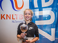 Hilversum, Netherlands, December 3, 2017, Winter Youth Circuit Masters, 12,14,and 16 years, 3 th place girls 12 years Emily Schut<br /> Photo: Tennisimages/Henk Koster