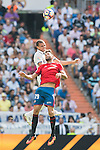 Pepe of Real Madrid battles for the ball with Kenan Kodro of Osasuna during the La Liga match between Real Madrid and Osasuna at the Santiago Bernabeu Stadium on 10 September 2016 in Madrid, Spain. Photo by Diego Gonzalez Souto / Power Sport Images